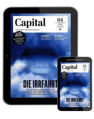 Jahresabonnement Capital e-Paper für 70€ + 70€ Gutschein oder Verrechnungsscheck