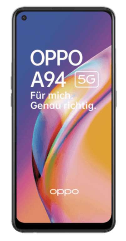 Oppo A94 5G (69€) + VF green LTE 5GB Promo Allnet Flat für 12,99€ mtl.