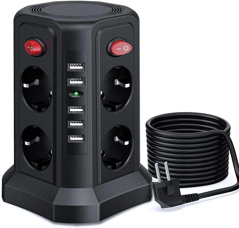 2 Produkte bei Amazon reduziert, z.B. Sameriver 8-fach Steckdosenturm für 23,75€