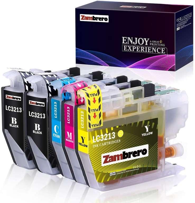 Zambrero kompatible Ersatz Patronen LC3213/LC3211 (Brother) für 7,05€ inkl. Prime Versand (statt 14€)