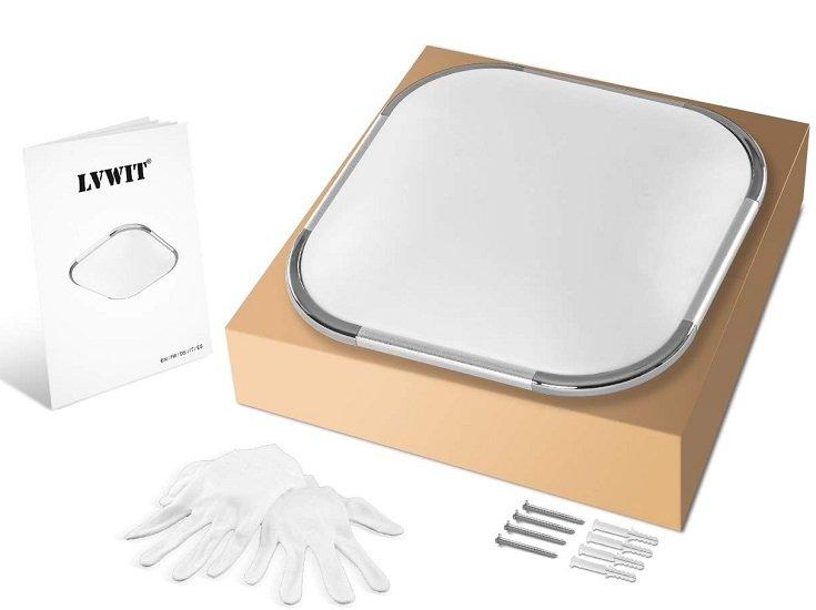 LVWIT 18W LED Deckenleuchte (3000K Warmweiß, 30x30 cm, 1440 lm) für 18,99€ inkl. VSK