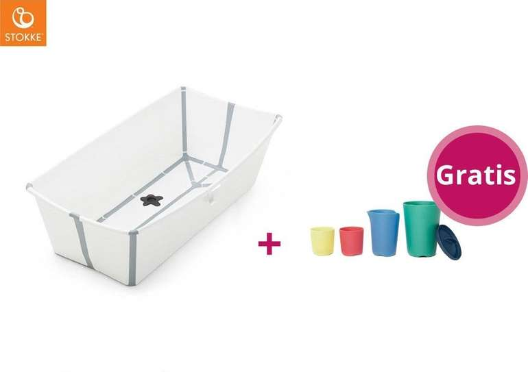Stokke Flexi Bath Badewanne X-Large inkl. Badespielzeug für 46,90€ inkl. Versand (statt 61€)