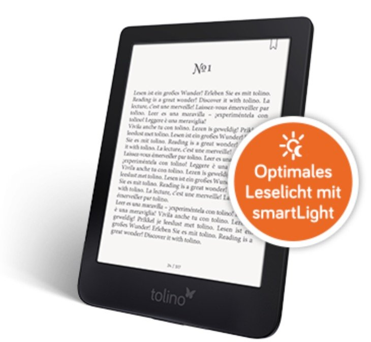 Tolino Shine 3 eBook Reader für 79€ inkl. Versand (statt 89€)