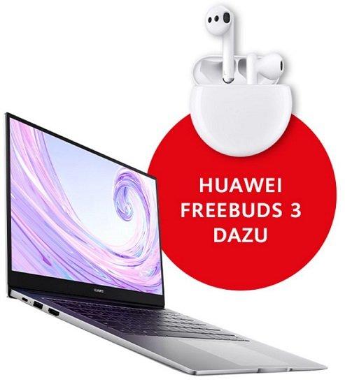 Huawei MateBook D kaufen & FreeBuds 3 (Wert: 130€) gratis, z.B. Modell D 14 für 699€ (statt 829€)
