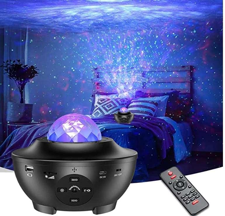 Hiluckey LED Sternenhimmel Projektor mit Fernbedienung, Bluetooth & Timer für 18,49€ (statt 37€)