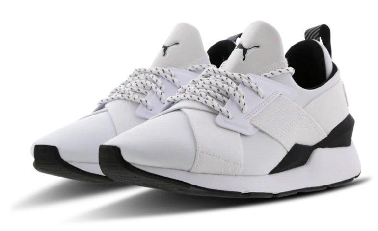 """Puma Muse Damen Sneaker im """"White-Black""""-Colourway für je 29,99€ inkl. Versand (statt 65€)"""