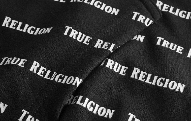 True Religion All-Over Logo Herren Hoodie