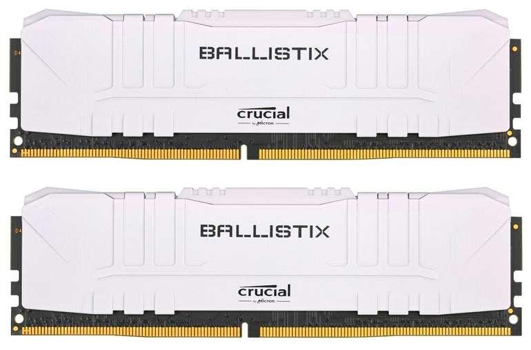 Crucial Ballistix Arbeitsspeicher BL2K16G30C15U4W (32GB Kit - 2x16GB, DDR4-3000, CL15) je 109,65€ inkl. Versand
