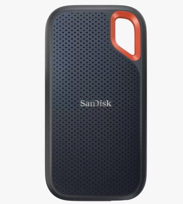 SanDisk Extreme Portable SSD V2 4TB (1050MB/s Lesen, 1000MB/s Schreiben, USB-C 10Gbit/s, IP55) für 519,99€