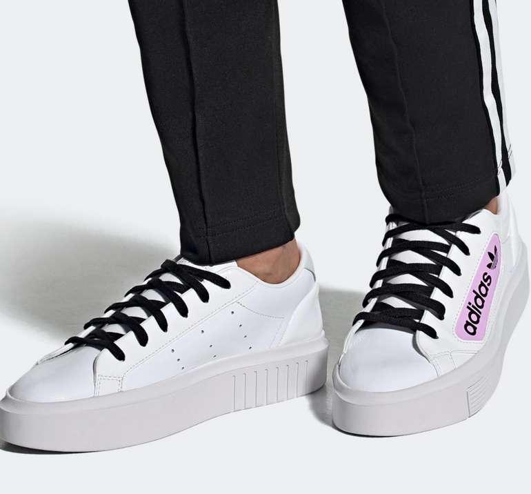 Adidas Originals Sneaker im weiß-lilanen Colourway für 34,95€ inkl. Versand (statt 50€)