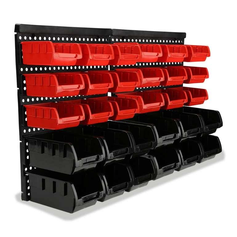 Wolketon Wandregal mit 30 Stapelboxen für 16,09€ inkl. Prime Versand (statt 23€)
