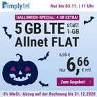 Simply O2 Allnet Flat mit 5GB LTE (bis zu 50MBit/s) für 6,66€ mtl. (keine Anschlussgebühr!)