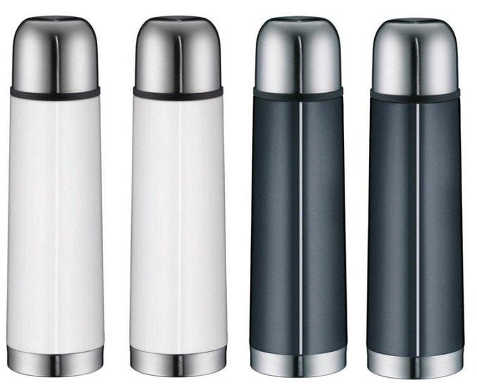 4er Set alfi isoTherm Eco doppelwandige Isolierflaschen für 23,95€ (statt 60€)