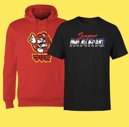 Nintendo Super Mario Hoodie + T-Shirt für 24,48€ inkl. Versand (statt 47€)