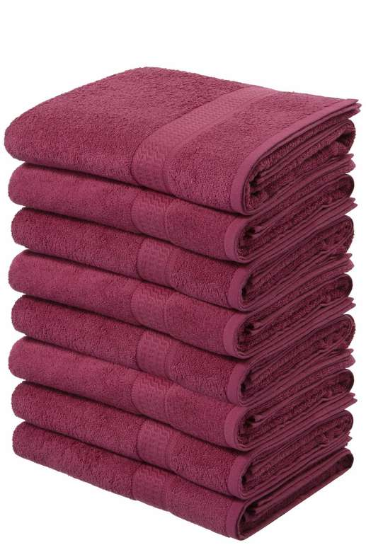 My home - 8er Pack Handtücher Juna (6 Farben) für 22,94€ inkl. Versand (statt 26€)