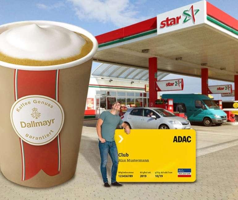 ADAC: Eine gratis Kaffeespezialität geniessen & 1 Cent pro Liter Kraftstoff sparen an star Tankstellen