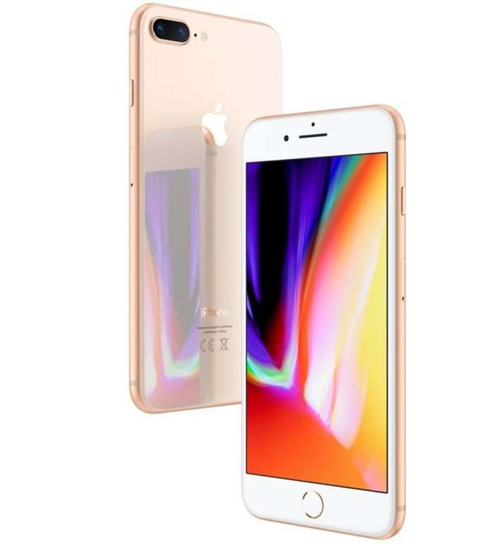 Apple iPhone 8 Plus mit 256GB Speicher in gold für 534,99€ inkl. Versand (statt 675€)