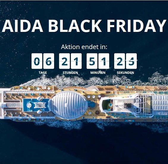 AIDA Black Friday Angebote - z.B. 7 Tage Kanaren ab Teneriffa inkl. Vollpension & Flug ab 649€ p.P.