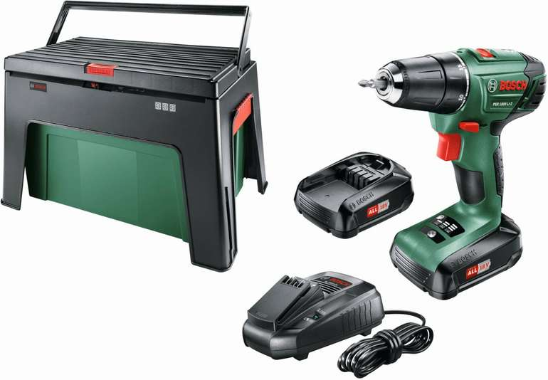 Bosch PSR 1800 LI-2 Akku-Bohrschrauber mit 2 Akku 1,5 Ah 18 V + Workbox für 94€ (statt 119€)