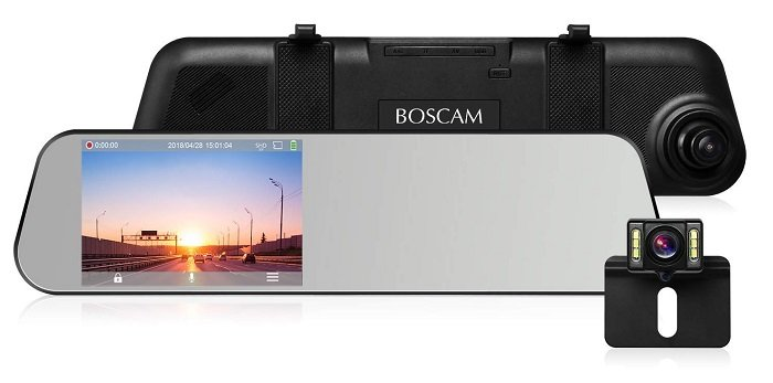boscam r1 r ckspiegel dashcam mit full hd 1080p aufl sung. Black Bedroom Furniture Sets. Home Design Ideas