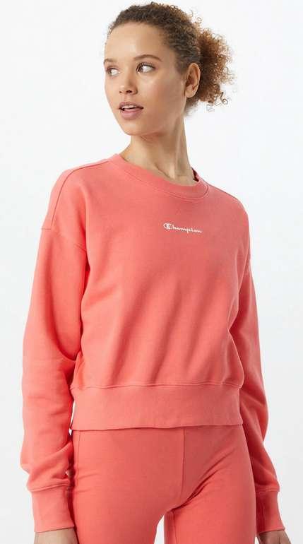 Damen Champion Authentic Athletic Apparel Sweatshirt in rosa / rot / weiß für 19,90€ inkl. Versand (statt 35€)