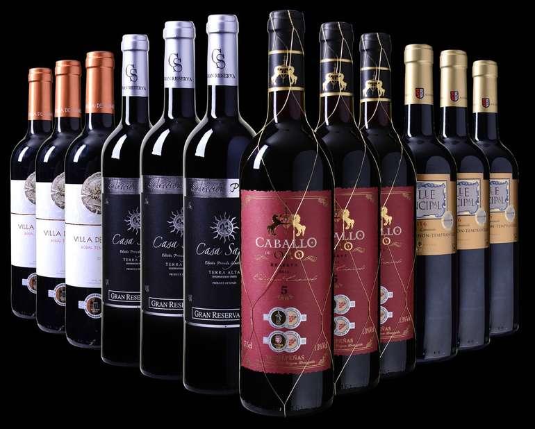 Weinvorteil: Spanisches Medaillenpaket mit 12 Flaschen nur 49,99€ inkl. Versand