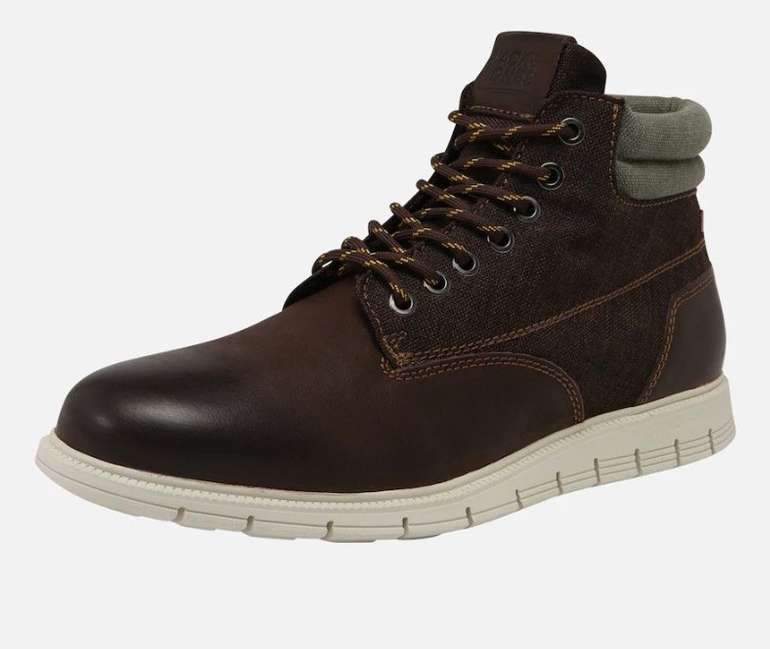 Jack & Jones Stiefel 'Jfwpedro Leather Boot' in dunkelbraun für 42,42€ inkl. Versand (statt 50€)