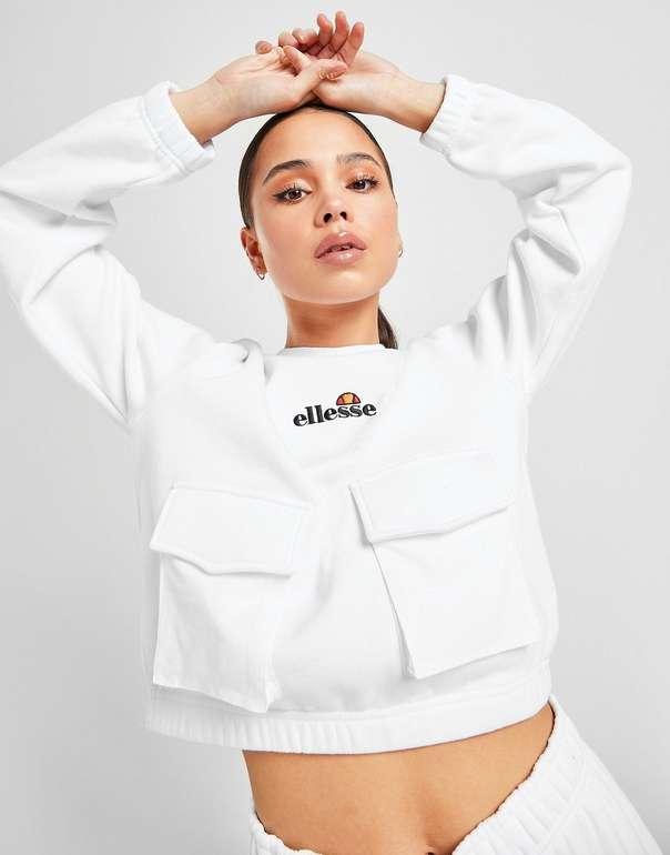 Ellesse Cargo Pocket Crew Sweatshirt in weiss für 20€ inkl. Versand (statt 25€)