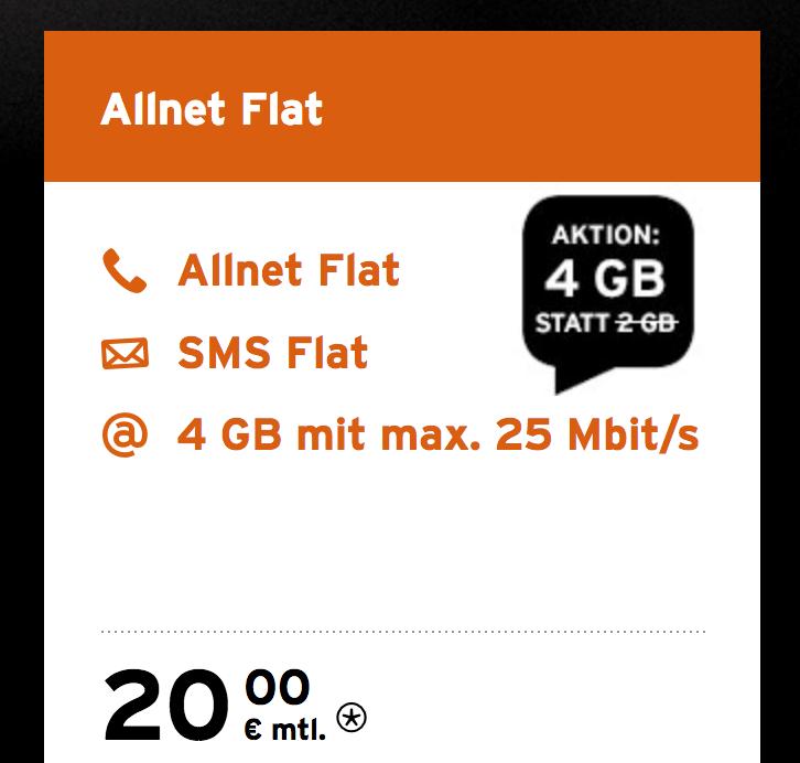 Congstar Allnet Flat für drei Monate kostenlos (4GB, Allnet-Flat, SMS-Flat)
