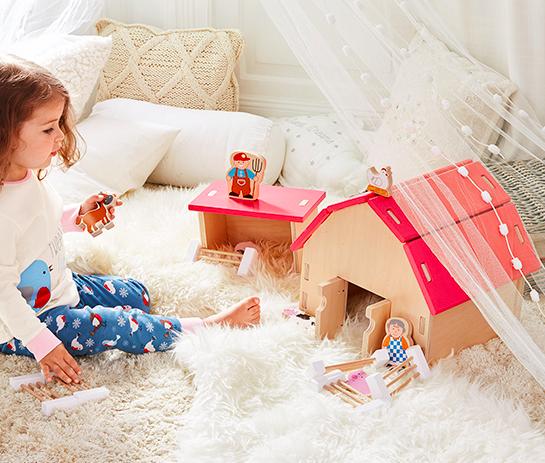 Spielzeug: Bauernhof aus FSC zertifiziertem Holz für 26,95€ inkl. Versand