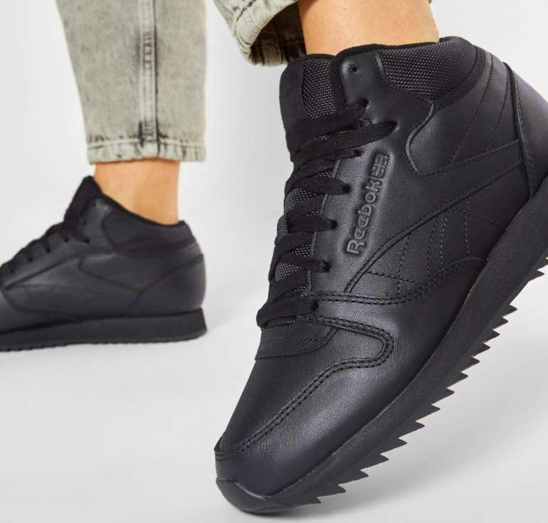 Reebok Cl Lthr Mid Ripple Herren Sneaker in Schwarz für 43€ inkl. Versand (statt 70€)