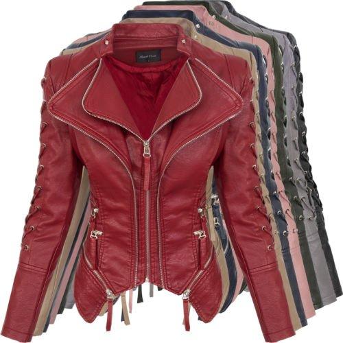Rock Creek Damen Kunstleder Jacke (Bikerjacke) für 44,90€ inkl. Versand