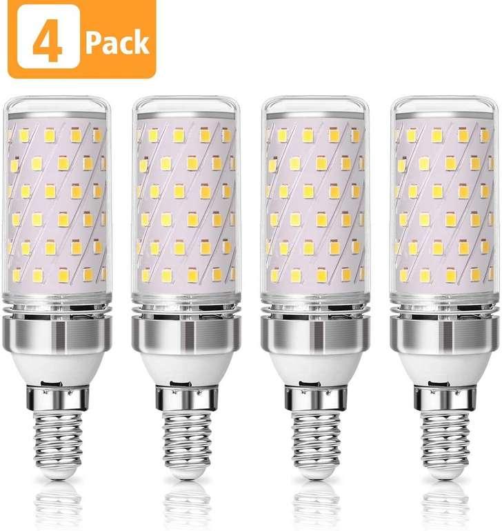 Kingso 4er Pack E14 LED Maiskolben Glühbirne (12W, 3000K) für 9,79€ inkl. Prime Versand (statt 15€)