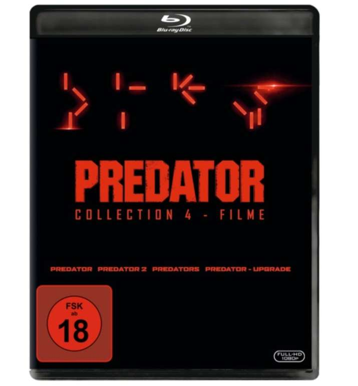 Predator Collection 1-4: Predator, Predator 2, Predators, Predator - Upgrade (Blu-ray) für 19,99€