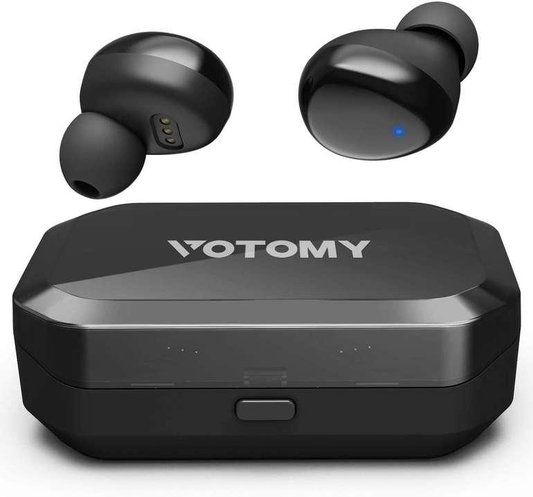 Votomy Bluetooth Kopfhörer mit 3.500 mAh Ladecase für 23,64€ inkl. Versand (statt 40€)