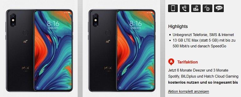 Xiaomi Mi Mix 3 5G Vodafone Allnet-Flat 13GB LTE