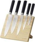 5-tlg. Echtwerk DM-0322-1 Damaszener Messerset + Magnet-Messerblock für 73,25€