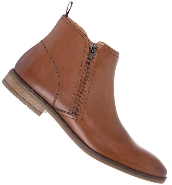 Clarks Stanford Zip Herren Chelsea Leder Boots in Braun für 45,99€inkl. Versand (statt 66€)
