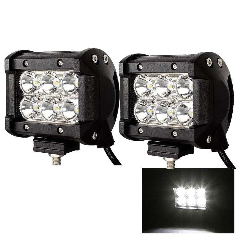 Wis LED Zusatzscheinwerfer mit 18 Watt reduziert, z.B. 2er Pack für 11,89€ (statt 17€)