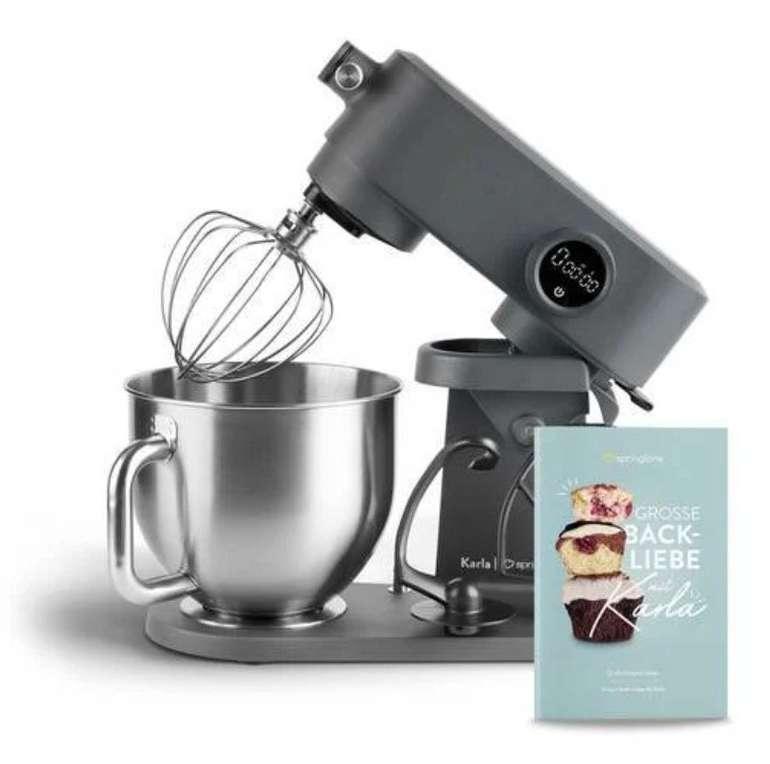 """Springlane """"Karla"""" Küchenmaschine (800 W, 5.2 Liter Edelstahl-Schüssel, Planetarisches Rührwerk) für 207,20€"""