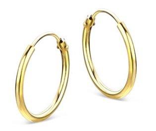Valmano: 20% Rabatt auf goldenen Schmuck & Uhren, z.B. Valeria Creolen für 36€