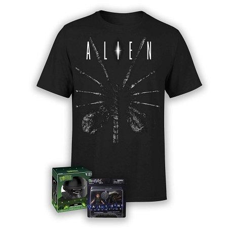 Alien Fanpaket: T-Shirt + Xenomorph Vinyl Figur + 2er-Minimates-Figuren 19,48€