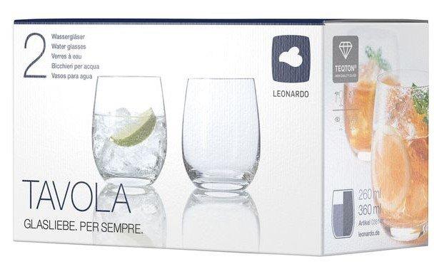 Leonardo Trinkglas 2er Set Tavola für 3,99€ + Versandkosten (statt 15€)