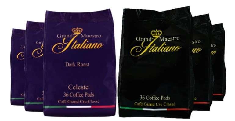 Probierpaket Grand Maestro Italiano Senseo (216 Pads) für 23,97€ inkl. Versand (statt 35€)