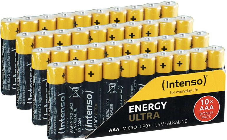 120er Pack Intenso Energy Ultra AAA Mignon Alkaline Batterien für nur 17,76€