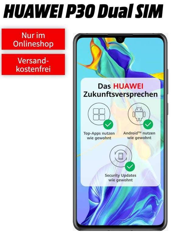 Huawei P30 (49€) + Telekom green LTE (D1-Netz, All-Net Flat, 6GB LTE) für 16,99€ mtl.