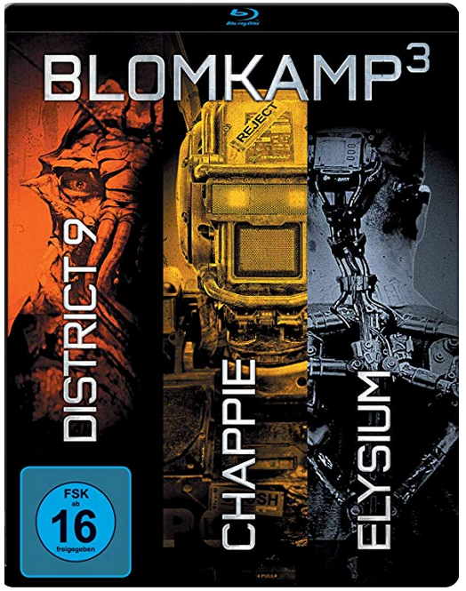Chappie + District 9 + Elysium (Steelbook, Blu-Ray) für 7,99€ bei Marktabholung