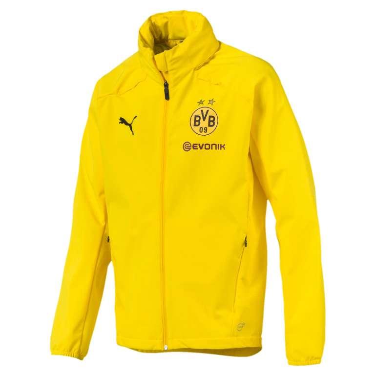 Puma BVB Borussia Dortmund Herren Regenjacke in Gelb für 22,22€ (statt 28€)