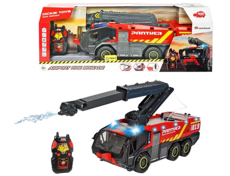Dickie Toys RC Airport Fire Brigade R/C Spielzeugauto Mehrfarbig/Rot für 27,99€inkl. Versand (statt 45€)