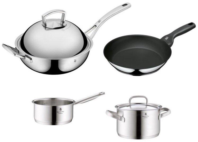 4-tlg. WMF Gourmet Plus Kochgeschirr-Set mit Wok für 139,95€ inkl. Versand